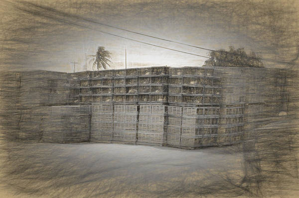 Photograph - Conch Key Lobster Traps Stacked 3 by Ginger Wakem