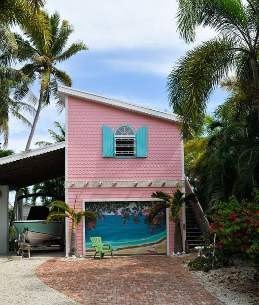 Photograph - Conch Key Pink Cottage 1 by Ginger Wakem