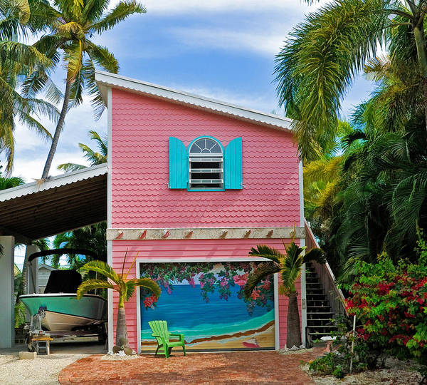 Photograph - Conch Key Pink Cottage 3 by Ginger Wakem