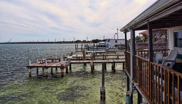 Photograph - Conch Key Porch And Docks 1 by Ginger Wakem