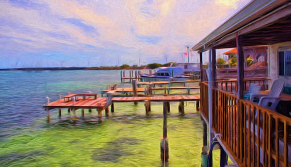 Photograph - Conch Key Porch And Docks 4 by Ginger Wakem