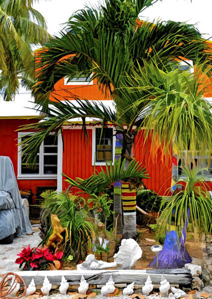 Photograph - Conch Key Red And Orange Cottage by Ginger Wakem