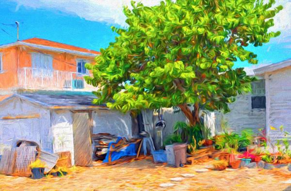 Digital Art - Conch Key Sea Grape Tree 2 by Ginger Wakem