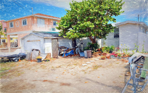 Digital Art - Conch Key Sea Grape Tree 5 by Ginger Wakem