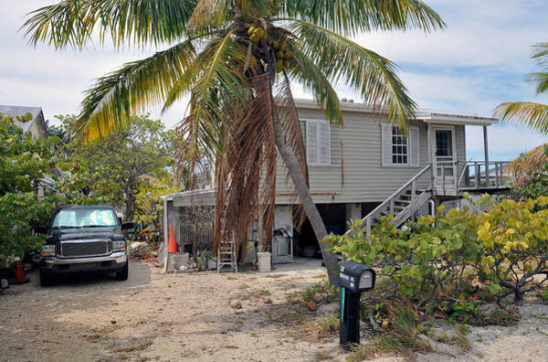 Photograph - Conch Key White Cottage 1 by Ginger Wakem