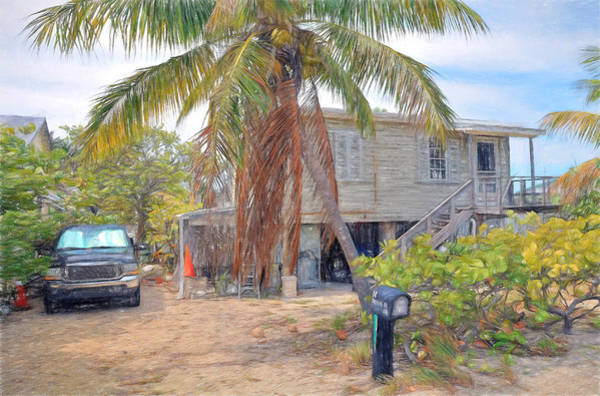 Photograph - Conch Key White Cottage 3 by Ginger Wakem