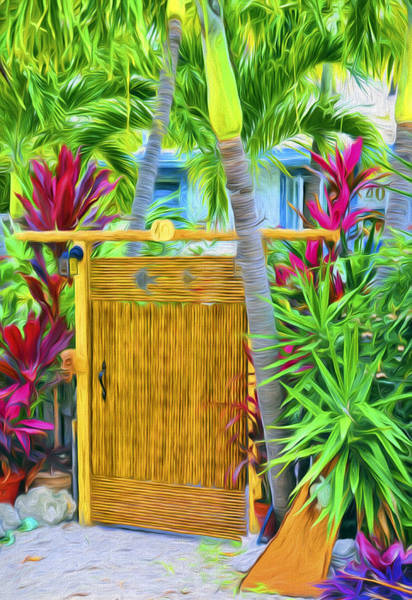 Photograph - Conch Key Wicker Gate 3 by Ginger Wakem