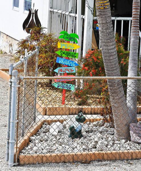 Photograph - Conch Key Yard Art by Ginger Wakem