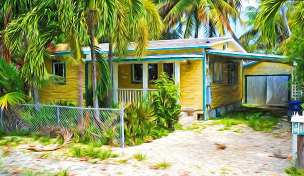 Photograph - Conch Key Yellow Cottage 1 by Ginger Wakem
