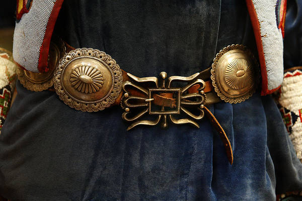 Sterling Silver Wall Art - Photograph - Concho Belt by Marilyn Hunt