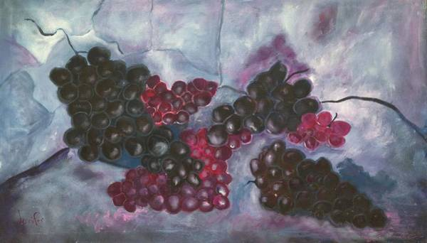 Wine Painting - Concords by Roxy Rich