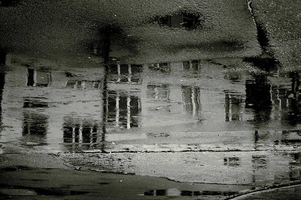 Puddle Wall Art - Digital Art - Concrete City II by Cambion Art