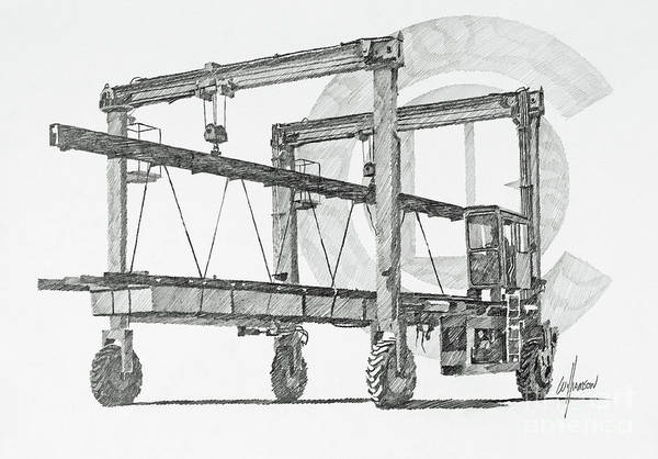 Wall Art - Drawing - Concrete Float Conveyance by James Williamson