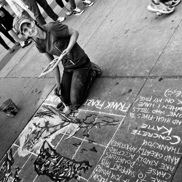Wall Art - Photograph - Concrete Katie Making The World A More by Brian Carson