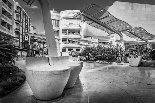 Photograph - Concrete Seats. by Gary Gillette