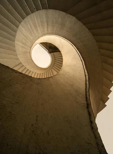 Wall Art - Photograph - Concrete Spiral Stairs by Jaroslaw Blaminsky