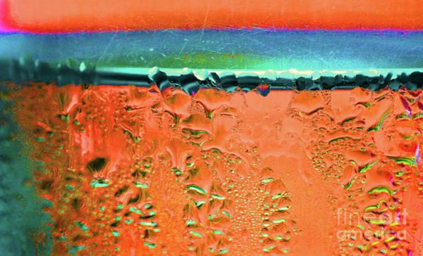 Photograph - Condensation Abstract Orange by Karen Adams
