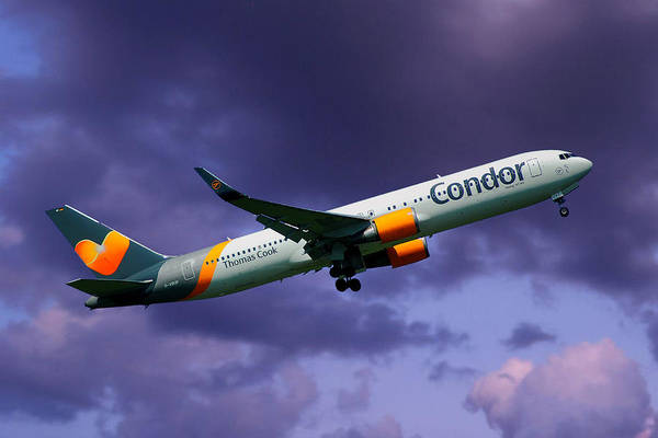 Wall Art - Photograph - Condor Boeing 767-3q8 by Smart Aviation