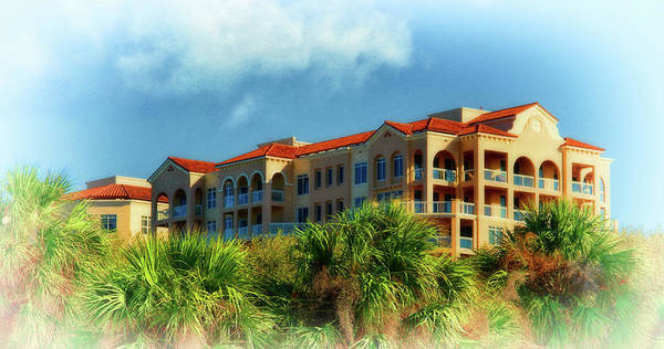Photograph - Condos Among The Palms And Clouds Clearwater Florida by Ola Allen
