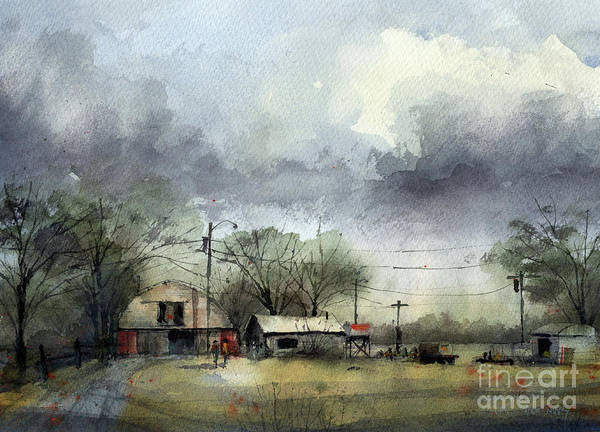 Upland Wall Art - Painting - Cone Farm by Tim Oliver