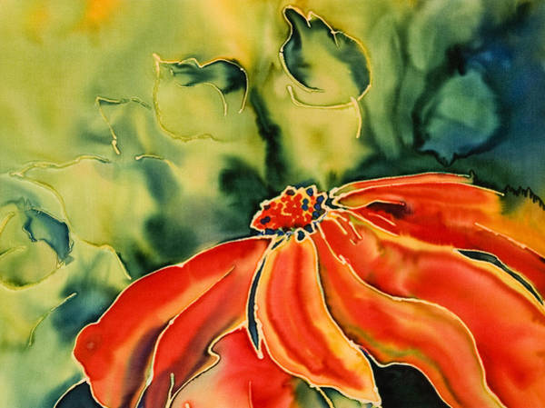 Tulipan Painting - Cone Flower by Pam Munn