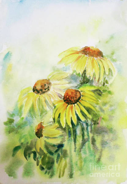 Painting - Cone Flowers by Asha Sudhaker Shenoy