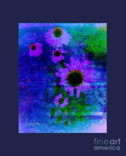 Mixed Media - Coneflowers Abstract by MaryLee Parker