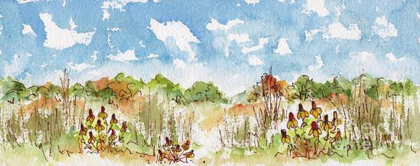 Painting - Coneflowers On The Prairie by Pat Katz