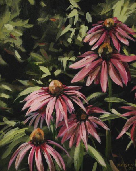 Painting - Coneflowers by Outre Art  Natalie Eisen