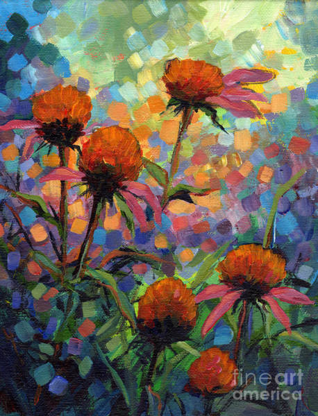 Coneflower Painting - Coneflowers by Peggy Wilson
