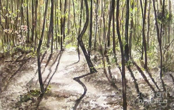 Conestee Walk Art Print by Carla Dabney