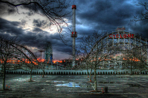 Parking Photograph - Coney Island by Bryan Hochman