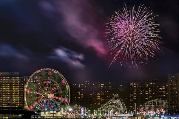 Photograph - Coney Island Fireworks by Susan Candelario