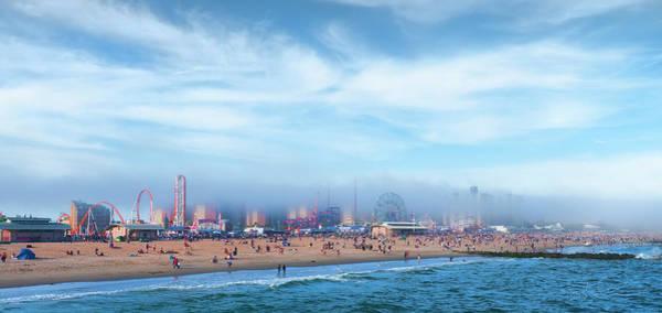 Photograph - Coney Island In Fog by S Paul Sahm