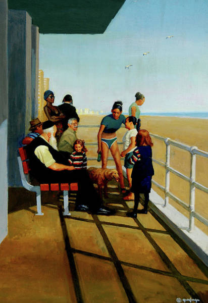 Painting - Coney Island by Mel Greifinger