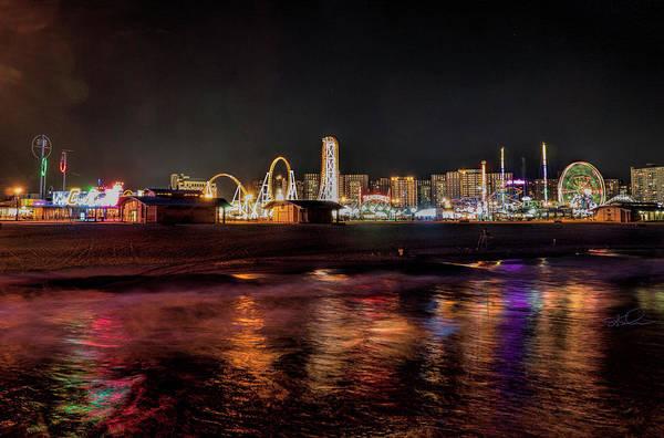 Photograph - Coney Island Nite Life by S Paul Sahm