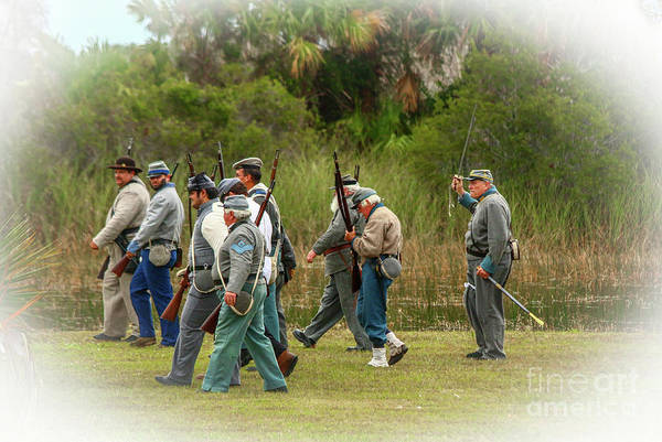 Wall Art - Photograph - Confederate Advance by Tom Claud