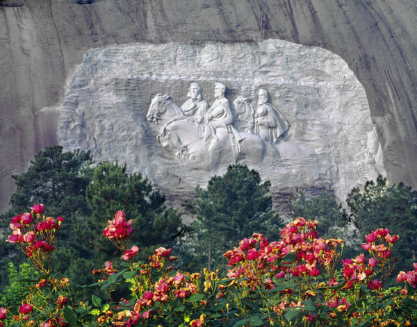 Photograph - 148219-confederate Carving  by Ed  Cooper Photography