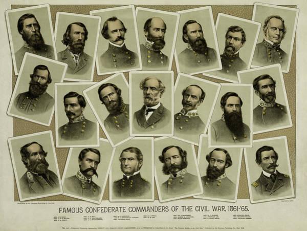 Wall Art - Photograph - Confederate Commanders Of The Civil War by Daniel Hagerman