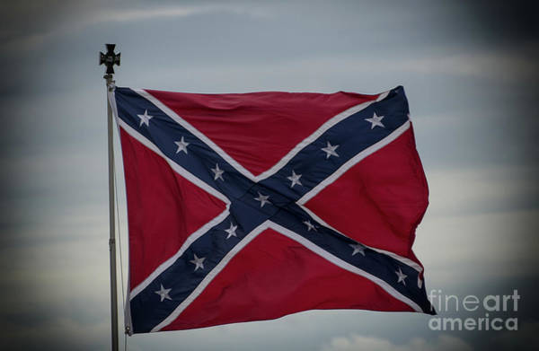 Photograph - Confederate Flag by Dale Powell