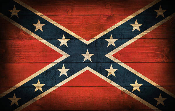 Close Digital Art - Confederate Flag by Zapista Zapista