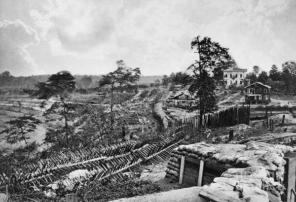 Wall Art - Photograph - Confederate Fort by Granger