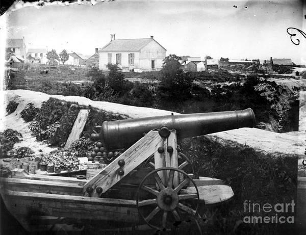 Wall Art - Photograph - Confederate Naval Gun by Granger