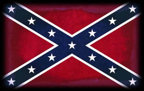 Southern Pride Wall Art - Digital Art - Confederate Rebel Battle Flag by Daniel Hagerman