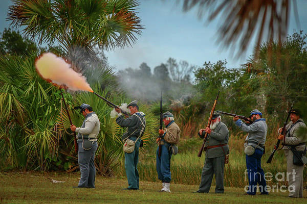 Photograph - Confederate Rifle Fire by Tom Claud