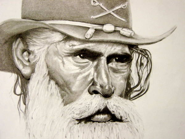 Confederate Soldier Drawing - Confederate Soldier by Trey Stephens