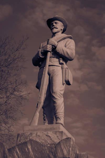 Confederate Statue  Standing Guard Art Print