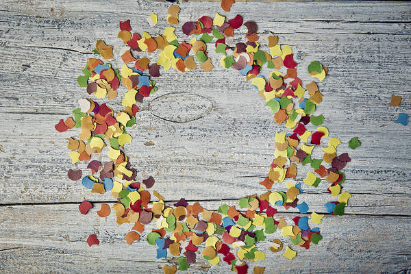 Table Photograph - Confetti Circle by Nailia Schwarz