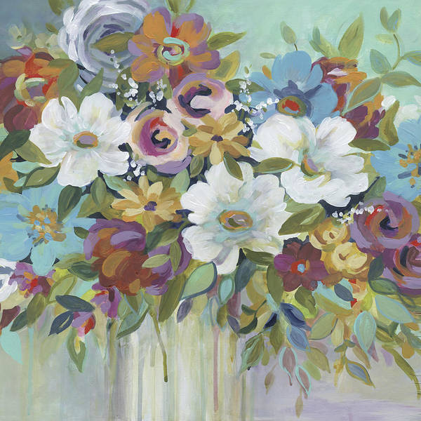 Wall Art - Painting - Confetti Mixed Bouquet by Carol Robinson