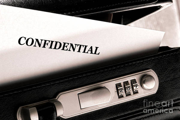 Photograph - Confidential Documents by Olivier Le Queinec